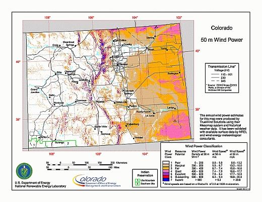 Colorado Anemometer Loan Program At Colorado State University Maps - Colorado state map